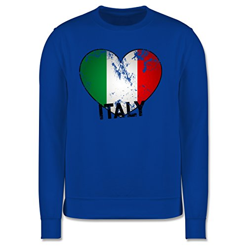 EM 2016 - Frankreich - Italien Herz Vintage - Herren Premium Pullover Royalblau