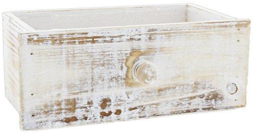 4h Antik (Lucky Winner 24,8cm Deko kalkfarbenes Holz Schrank Schublade Box)