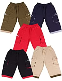 Provalley presents Boys cotton Pack of 5 Capri pant's with different colors and Design.