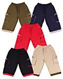 #8: Provalley presents Boys cotton Pack of 5 Capri pant's with different colors and Design.