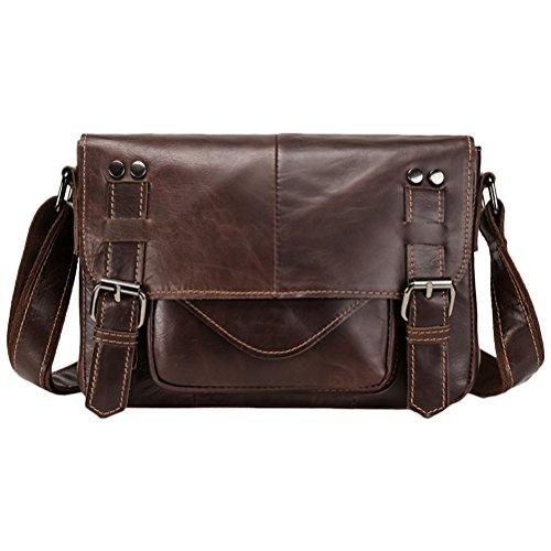 Zhhlinyuan dauerhaft Mens Teens Leather Zipper Shoulder Bag Crossbody Travel Daypacks Satchel Bag Halloween gift (Satchel Bag Travel)
