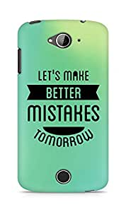 Amez Lets make better Mistakes Tomorrow Back Cover For Acer Liquid Z530