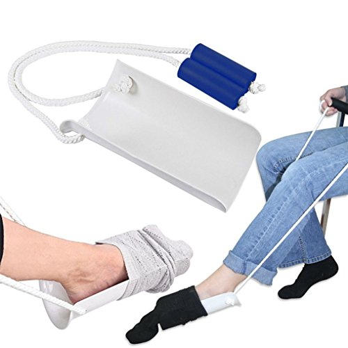 Covermason Socken Hilfe, Socken Strumpf Anzieher Anziehhilfe für Senioren handicaped People Sockenanzieher Strumpfanziehhilfe (Weiß)
