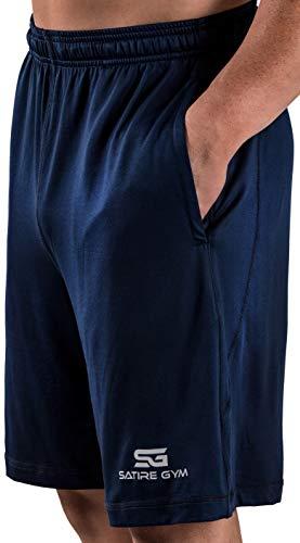 737deb2a569eb8 Satire Gym - Herren - Kurze Sport Hose - Fitness Loose Fit Shorts (Navy  Blue, XXL)