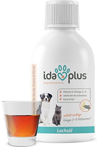 IdaPlus - BARF Lachsöl für Hunde, Katzen & Pferde | Reich an Vitamin D, Omega-3 & 6 Fettsäuren | Fördert starken Knochenaufbau und sorgt für ein glänzendes Fell (500 ml) (Katze Nahrung)