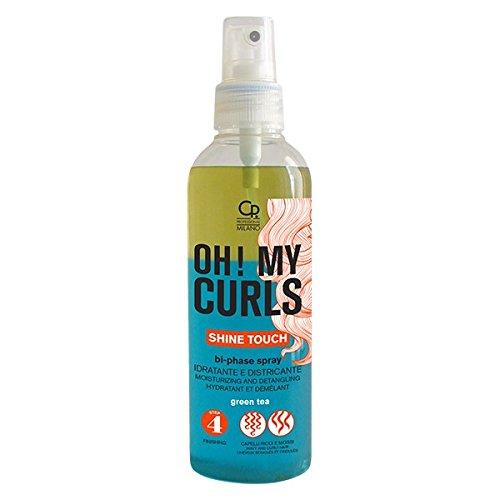 Oh ! My Curls - Spray Démêlant et Hydratant Bi-Phase - Traitement Professionnel en Spray Hydratant Démêlant pour les Cheveux Bouclés et Ondulés - Huile et Beurre de Karité - Sans Rinçage - 200 ml