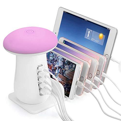Lampada da tavolo ricaricabile stazione di ricarica USB touch dier universale per ricaricare più dispositivi mobili caricabatterie per Samsung Apple