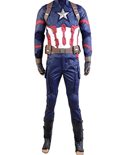 Captain America Kostüm Das - Captain America: Civil War Steve Rogers Uniform Cosplay Kostüm Herren M