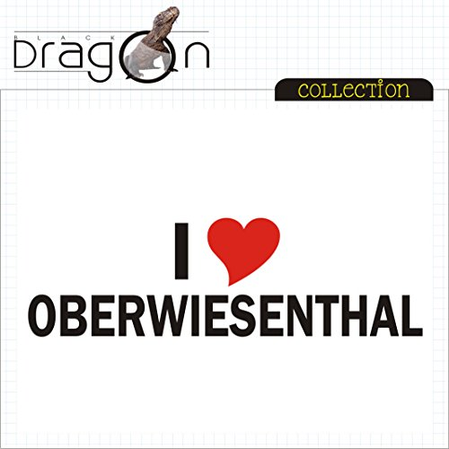 T-Shirt - i Love Oberwiesenthal - Herren - unisex Weiß
