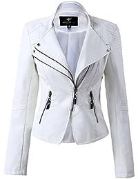 09a4da2f320c7f Giacca Pelle Bianca: Abbigliamento - Amazon.it