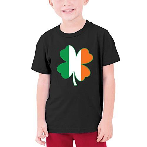 Old Navy Gingham Shirt (Irish Flag Four Clover1 Jungen Teenager Kurzarm T-Shirt Sport Baseball T-Shirt Tees(S,Schwarz))