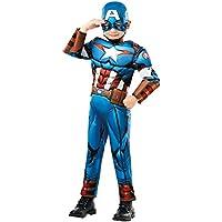 Rubies 640833M Marvel Avengers Capitán América Deluxe - Disfraz infantil para niño, ...