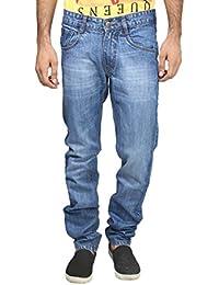 Migo Garments's Men's Denim Stretchable Jeans(Dark Blue,28)