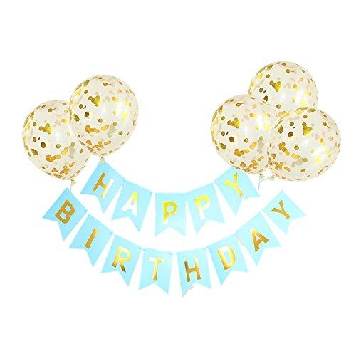 r und 5 Stück 12 Zoll Latex Konfetti Ballons Partydekorationen für Baby Sunshine Birthday Party Supplies dekorative ()