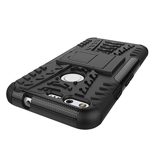 Voguecase® für Apple iPhone 6/6S 4.7 hülle, (Spiegel-Karte/Rosa) Luxus Spiegel Mirror Design Hybrid Hülle Schutzhülle Case Cover mit Karten-Slots + Gratis Universal Eingabestift Kickstand/Schwarz