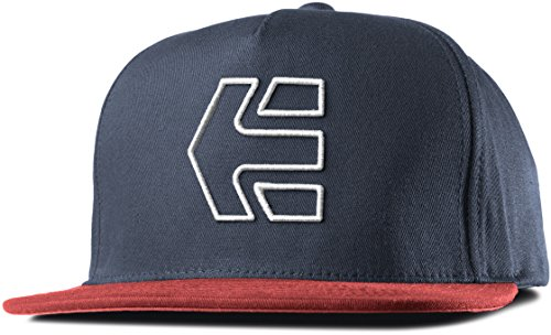 Etnies Icon 7 Snapback Hat, Color: Red/Navy, Size: One Size