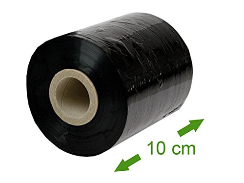 Preisvergleich Produktbild 1 x Stretchfolie (Palettenfolie, Plastikfolie, Handwickelfolie) - GRANAT, Schwarz, Breite 10cm, Länge 150m