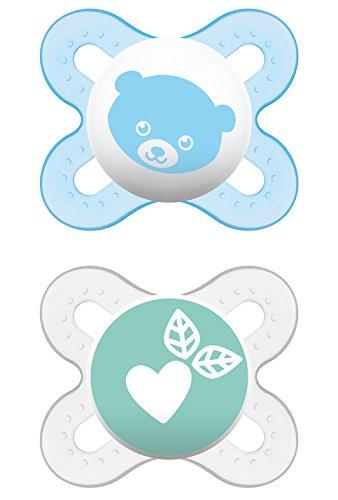 MAM 66643811 - Start, Ciuccio in silicone 0-2 mesi, confezione doppia, bambino