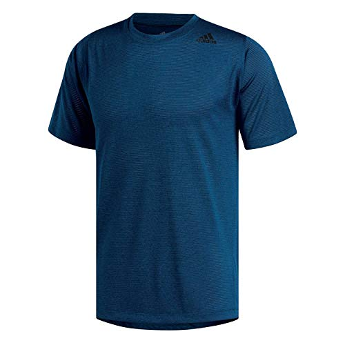 adidas Herren FreeLift Tech Climacool Fitted T-Shirt Legend Marine/Heather L