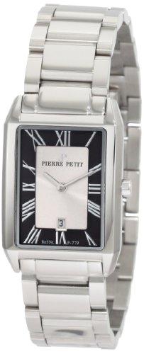 Pierre Petit P-779C - Reloj analógico de cuarzo para mujer con correa de acero inoxidable, color plateado