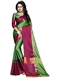The Design Hub Women's Cotton Silk Saree Sarees Below 500 Rupees Sarees New Collection 2017 Sarees For Women Party...