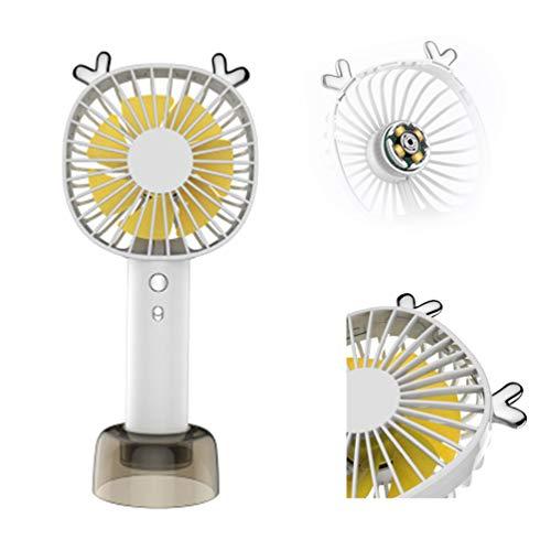 Ventilatore Usb Elettrico Palmare, Mini Ventilatore di Alta Qualità con Maniglia con 3 Impostazioni di Velocità per la Scuola Domestica Esterna