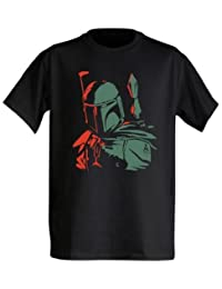 Star Wars Boba Drop Hombres Black Camiseta | S