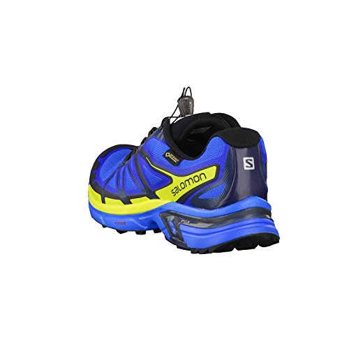 Salomon Wings Pro 2 GTX - Chaussures de running - jaune/bleu 2016 bright blue/gecko green/deep blue