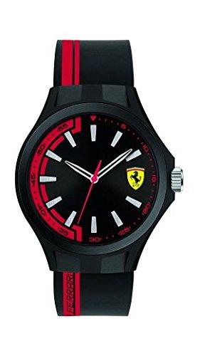 Scuderia Ferrari Orologio Pit Crew 0830367in gomma nero e rosso