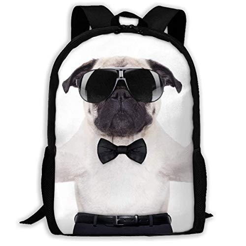 sghshsgh Rucksack für Hochschule,Hippie Animal Dog with Sunglasses and Suit Drinking Wine School Bookbag Oxford Casual Outdoor Rucksack for Adult Womens Mens, Multipurpose Shoulders Bag Gift