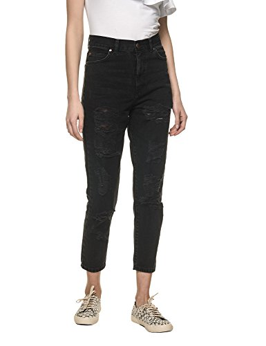 dr-denim-jeansmakers-womens-nora-womens-black-high-waisted-jeans-in-size-w28-l30-black
