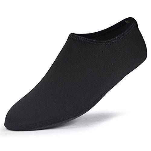DANMEI Universal Quick Dry Scuba Stiefel Schuhe Atmungsaktiv Bequem Schnorcheln Socken Rutschfest Tauchen Socke Wasserdicht Sport Beach Socks für Damen Herren, Schwarz, M