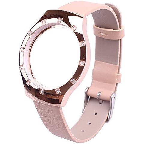 Kicpot Banda sostituzione del cuoio genuino per Misfit Shine telaio in lega Wristband accessori nobiltà e della vigilanza di modo cinghia di prevenire Tracker Falling Off - Lega Wristband
