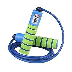 Springseil Speed Rope von Pretop Mit Zähler Und Komfortablen & Anti-Rutsch Griffen, Licht, Springseile Für Workout, Crossfit, Boxen, Training Und Fitness