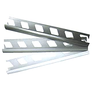 Arcansas Profile Jolly All. Satin. MM. 8H. CM. 250Mod. Jolly Aluminium. For the Finish and Protection of Edges in the Mounting of Tiles. Satin Finish for Tiles 8mm Rod 2, Pack of 5m
