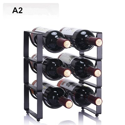 Regal für Wein Moderne Einfache Superposition Wein Rack Ornamente Wein Flasche Halter Wein Schrank Eisen Kreative Wein Rack Mehr Typ Kann Gewählt Werden A2 -