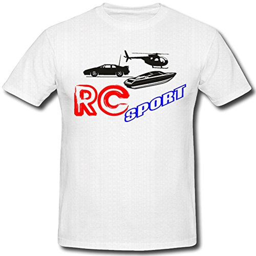 Rc Sport Modellbau Auto Drohne Fan Freizeit Hobby - T Shirt #908, Größe:Herren XXL, Farbe:Weiß