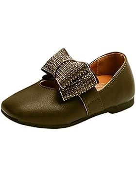 JIANGFU Kinder Kid Infant Mädchen Kristall Bowknot Solide Leder Prinzessin Einzelne Schuhe, Quadratischer Schuh...