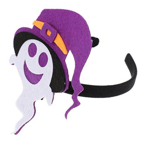 Fledermaus Kürbis Hexe Muster Haarband Stirnband Kopfband Feste Party Kostüm Zubehör für Kinder Erwachsene - Geist (Erwachsenen-kürbis-kostüm-muster)