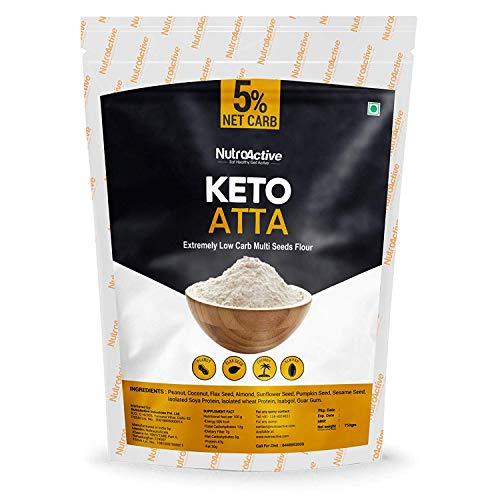 NutroActive Keto Atta (Net Carb 5%) Extremely Low Carb Flour - 750gm - Ultra Pure Pack