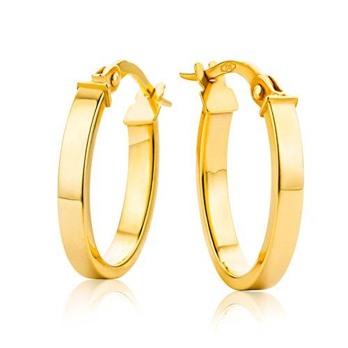 Miore Pendientes de Oro Amarillo de 9K para Mujer