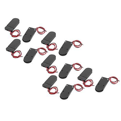 Preisvergleich Produktbild sourcing map 2 x 3V CR2032 Zellenknopf Batteriehalter Batteriezellengehäuse Schalter 10 Stück