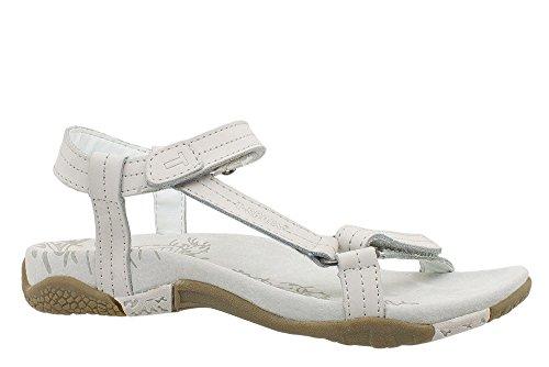 T-Shoes - Almeria TS078 - Sandales en nubuck Femme Blanc Cassé