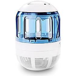 Lámpara Antimosquitos USB Fochea LED UV Lámpara Eléctrico Trampa del Mosquito del Insecto Exterior No Tóxicos 360°Malla Prueba de Escape Bug Zapper Anti-mosquito la Sala Jardín Lámpara del Insecto Asesina