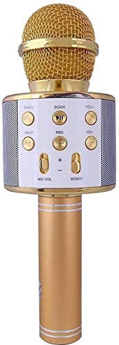 Syvo Wireless WS-858 Bluetooth Microphone Recording Condenser Handheld Stand (Multicolour)