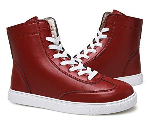 Männer Retro britische kurze Stiefel Martin Stiefel Sport Freizeit Studenten Outdoor Laufen Casual Schuhe Red