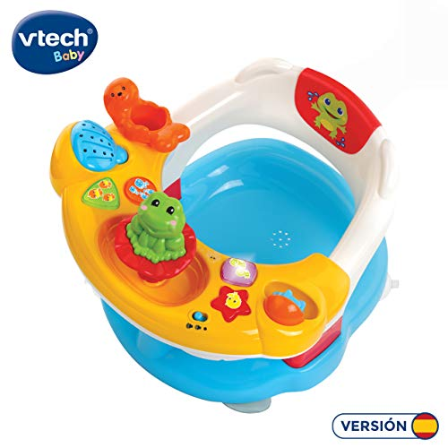 Vtech Aquasilla 2 en 1, silla de baño y panel de actividades, juguete para jugar...