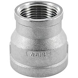 Réducteur de tuyau acier inoxydable avec raccord filetage interne