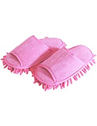 1a0916edb0a Boumten 1Pair Cleaning Slipper Lazy Quick Cleaning Floor Slippers Dust Mop  for Home