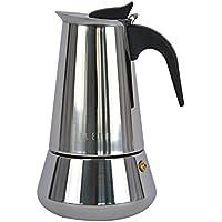 Ideal casa Cafetera 6 Tazas Acero Inoxidable con Fondo Inducción.